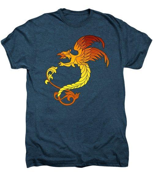 Griffin Griffon Gryphon In Flaming Colours Men's Premium T-Shirt by Heidi De Leeuw