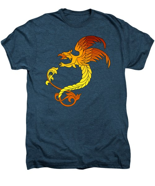 Griffin Griffon Gryphon In Flaming Colours Men's Premium T-Shirt