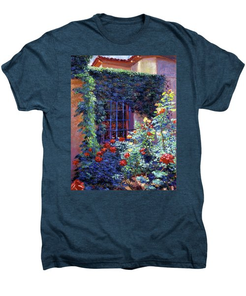 Guesthouse Rose Garden Men's Premium T-Shirt by David Lloyd Glover