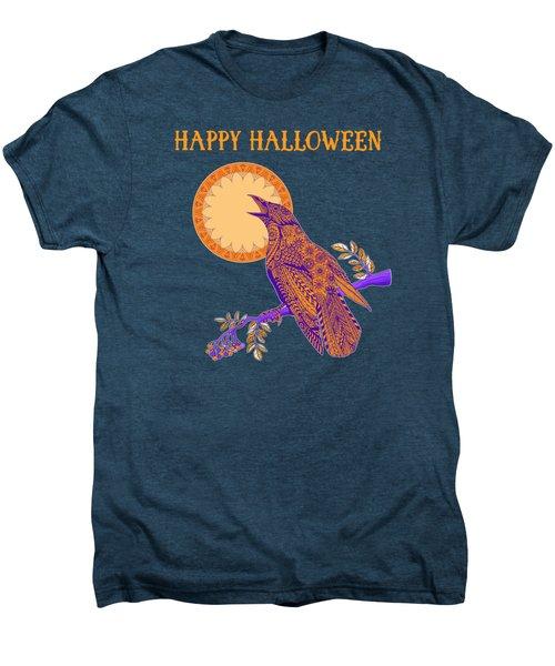 Halloween Crow And Moon Men's Premium T-Shirt