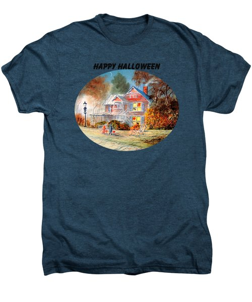 Happy Halloween Men's Premium T-Shirt by Bill Holkham