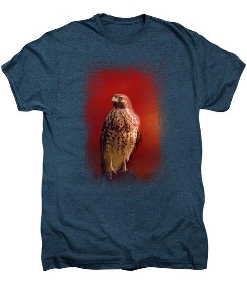 Hawk On A Hot Day Men's Premium T-Shirt by Jai Johnson