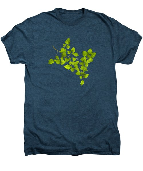 Men's Premium T-Shirt featuring the mixed media Hawthorn Pressed Leaf Art by Christina Rollo