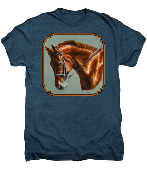 Horse Painting - Focus Men's Premium T-Shirt