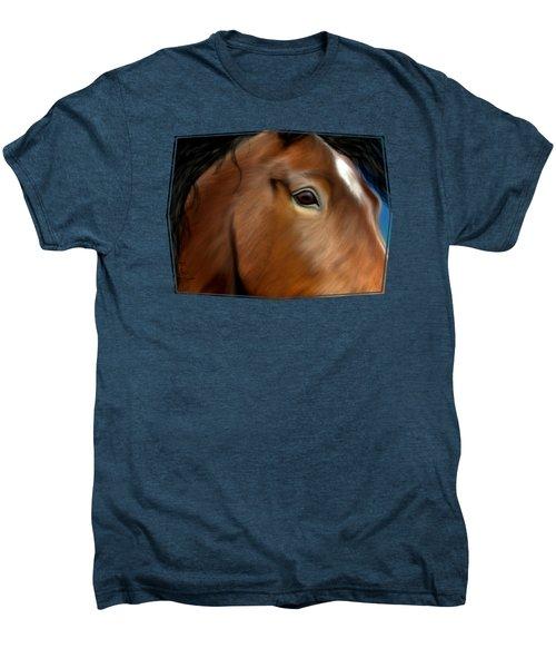 Horse Portrait Close Up Men's Premium T-Shirt