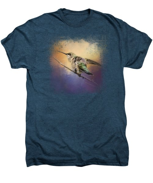 Hummingbird At Sunset Men's Premium T-Shirt
