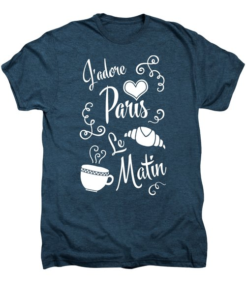I Love Paris In The Morning Men's Premium T-Shirt by Antique Images