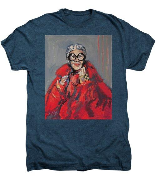 Iris Apfel Style Icon Men's Premium T-Shirt by Nop Briex