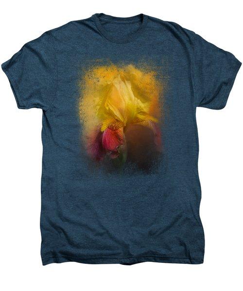 Iris In Miss June's Garden Men's Premium T-Shirt
