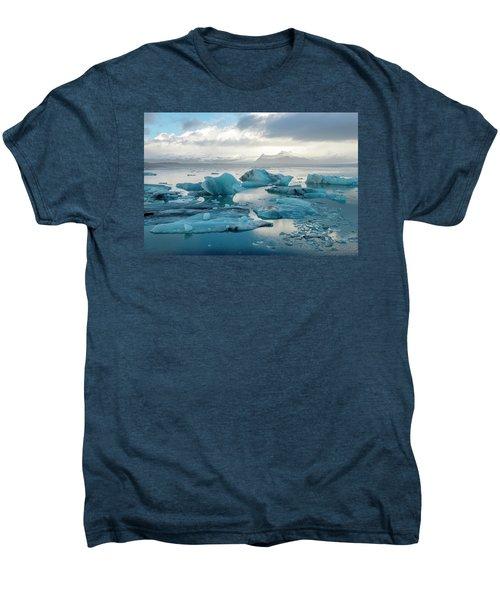 Jokulsarlon, The Glacier Lagoon, Iceland 6 Men's Premium T-Shirt by Dubi Roman