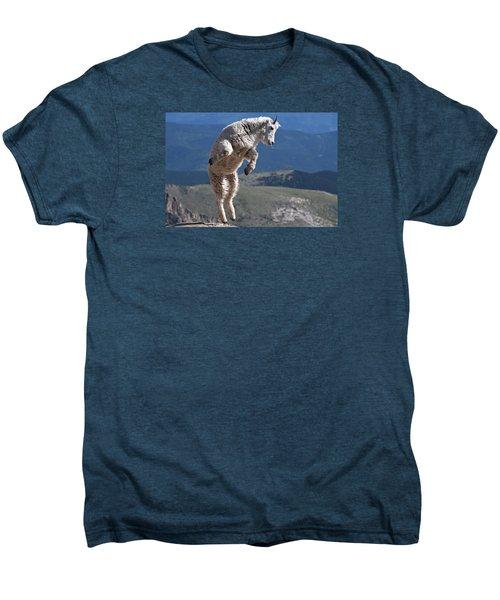 Men's Premium T-Shirt featuring the photograph Jump by Gary Lengyel