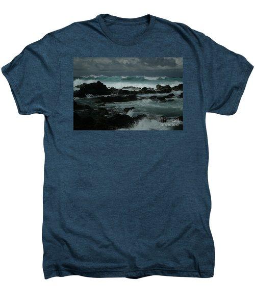 Ka Makani Kaiili Aloha Hookipa Maui Hawaii  Men's Premium T-Shirt by Sharon Mau