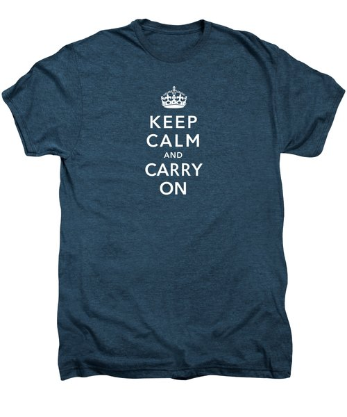Keep Calm And Carry On Men's Premium T-Shirt