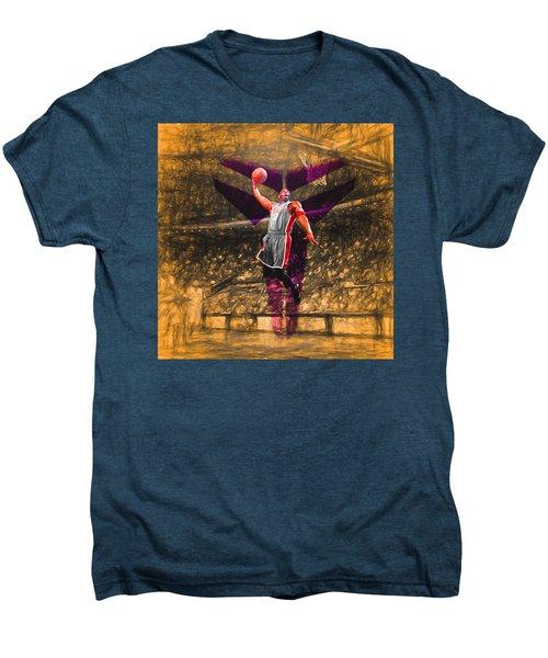 Kobe Bryant Black Mamba Digital Painting Men's Premium T-Shirt by David Haskett