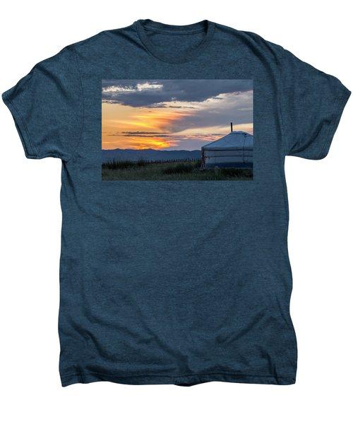 Men's Premium T-Shirt featuring the photograph Last Golden Light, Elsen Tasarkhai, 2016 by Hitendra SINKAR