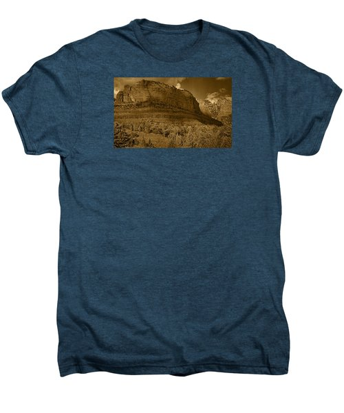 Late Light At Brin's Mesa Tnt Pano Men's Premium T-Shirt