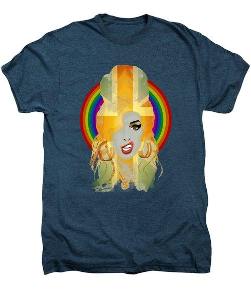 Lioness - Fierce Rainbow - Amy Winehouse Portrait Men's Premium T-Shirt by Big Fat Arts