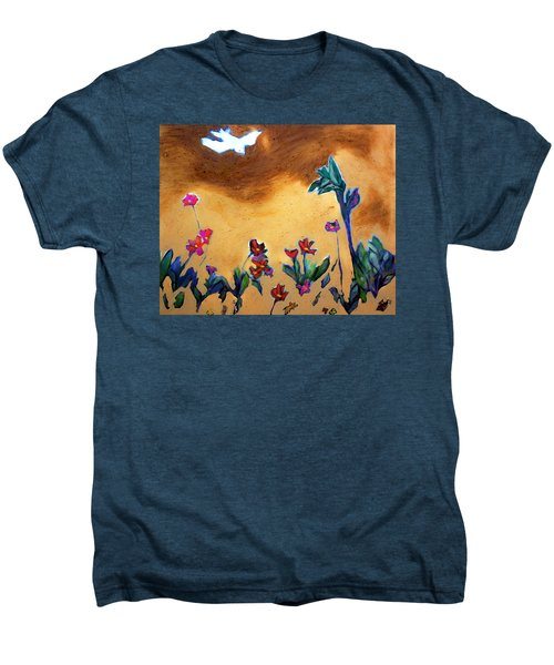 Men's Premium T-Shirt featuring the painting Living Earth by Winsome Gunning