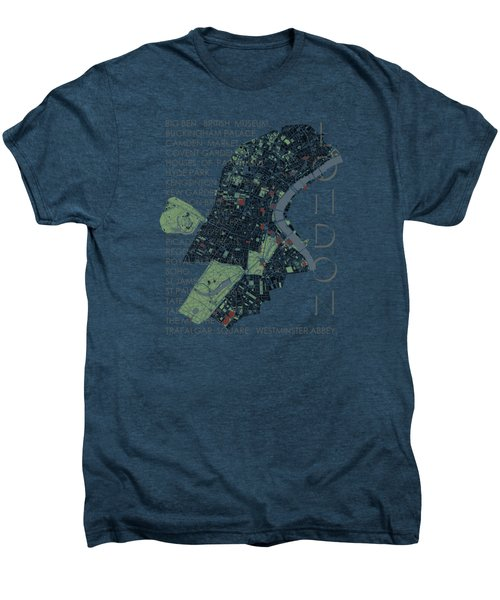 London Classic Map Men's Premium T-Shirt