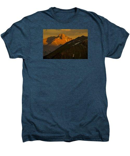 Men's Premium T-Shirt featuring the photograph Long's Peak by Gary Lengyel
