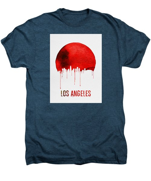 Los Angeles Skyline Red Men's Premium T-Shirt by Naxart Studio