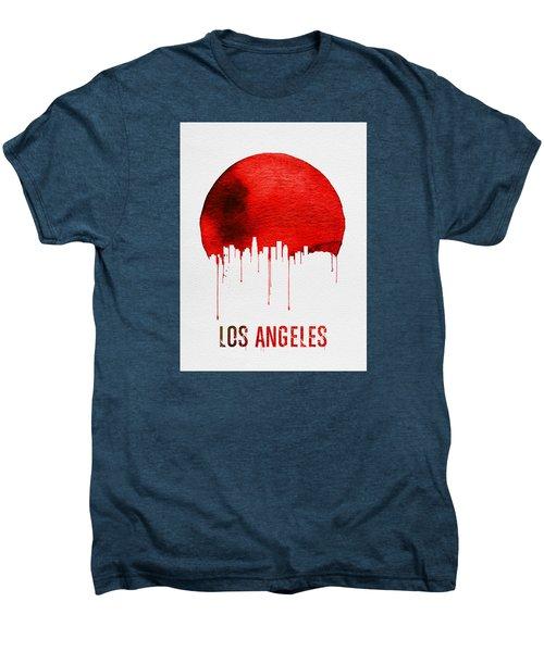 Los Angeles Skyline Red Men's Premium T-Shirt