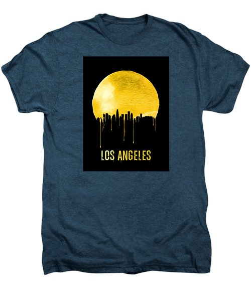 Los Angeles Skyline Yellow Men's Premium T-Shirt by Naxart Studio