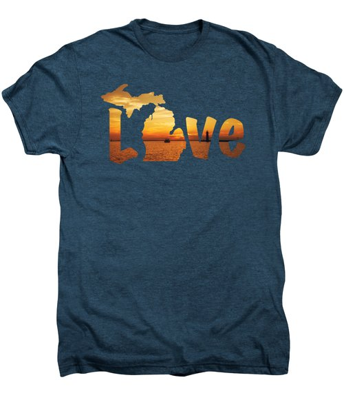 Love Lake Michigan Men's Premium T-Shirt by Emily Kay