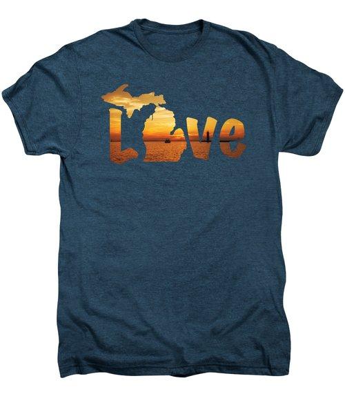 Love Lake Michigan Men's Premium T-Shirt