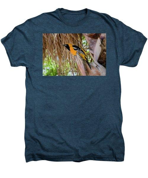 Male Hooded Oriole H17 Men's Premium T-Shirt