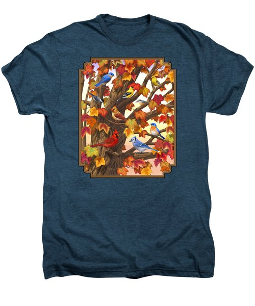 Maple Tree Marvel - Bird Painting Men's Premium T-Shirt