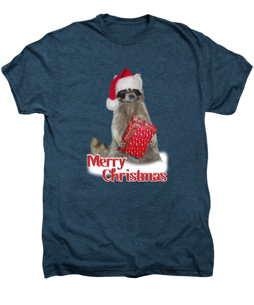 Merry Christmas -  Raccoon Men's Premium T-Shirt by Gravityx9 Designs