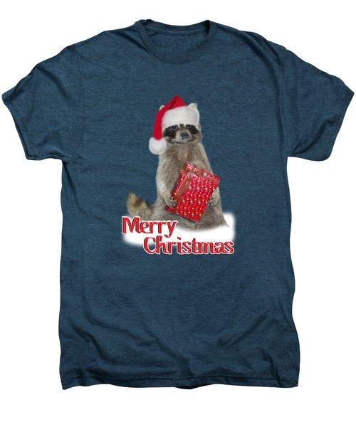 Merry Christmas -  Raccoon Men's Premium T-Shirt