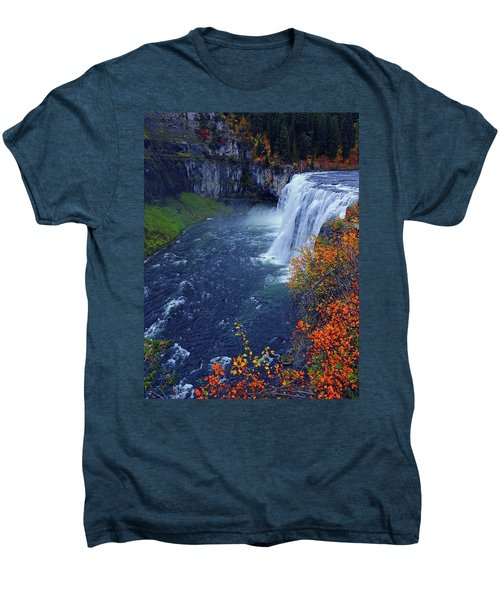 Mesa Falls In The Fall Men's Premium T-Shirt