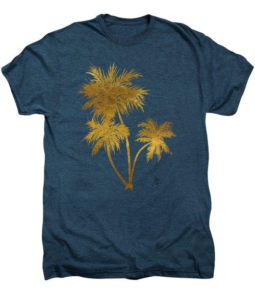 Metallic Gold Palm Trees Tropical Trendy Art Men's Premium T-Shirt