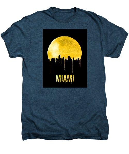 Miami Skyline Yellow Men's Premium T-Shirt