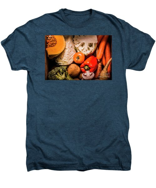 Mixed Vegetable Produce Pack Men's Premium T-Shirt by Jorgo Photography - Wall Art Gallery