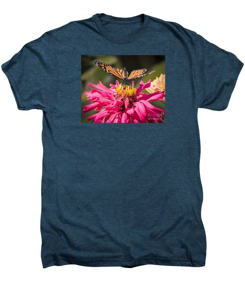 Men's Premium T-Shirt featuring the photograph Monarch On The Last Days Of Summer by Ricky L Jones
