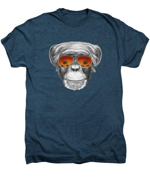 Monkey With Mirror Sunglasses Men's Premium T-Shirt