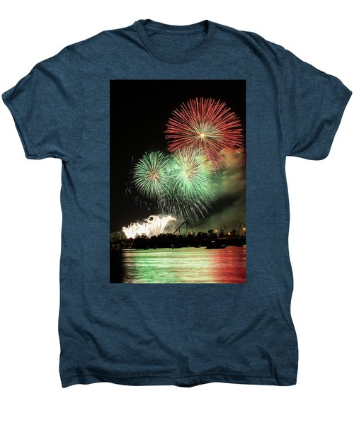 Montreal-fireworks Men's Premium T-Shirt by Mircea Costina Photography