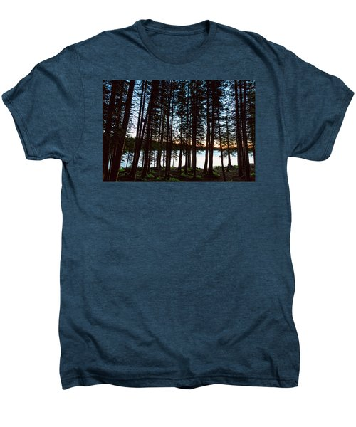 Men's Premium T-Shirt featuring the photograph Mountain Forest Lake by James BO Insogna