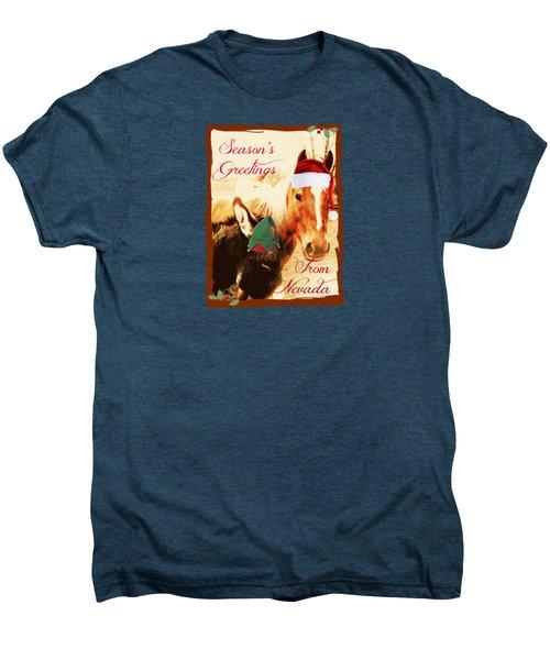 Nevada Greetings Men's Premium T-Shirt by Bobbee Rickard