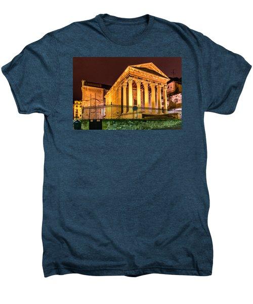 Night At The Roman Temple Men's Premium T-Shirt by Randy Scherkenbach