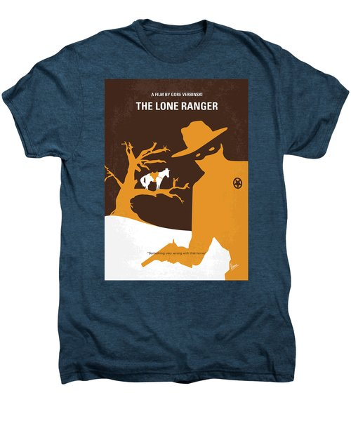 No202 My The Lone Ranger Minimal Movie Poster Men's Premium T-Shirt by Chungkong Art