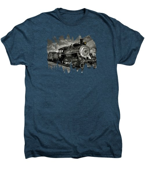Old 104 Steam Engine Locomotive Men's Premium T-Shirt by Thom Zehrfeld