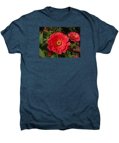 Orange Red Zinnia Men's Premium T-Shirt