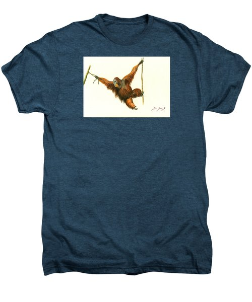 Orangutan Men's Premium T-Shirt by Juan Bosco