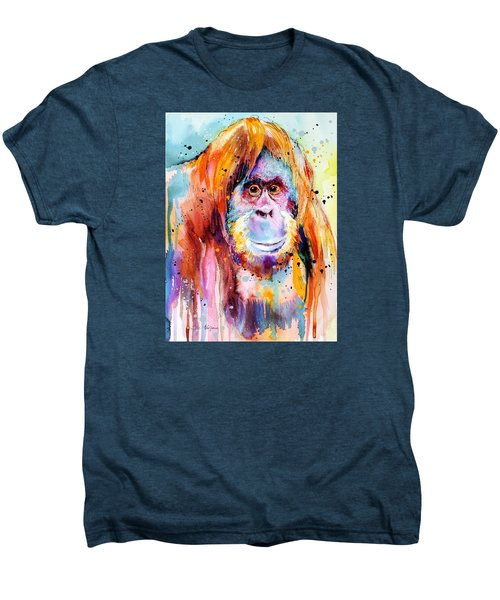 Orangutan  Men's Premium T-Shirt by Slavi Aladjova