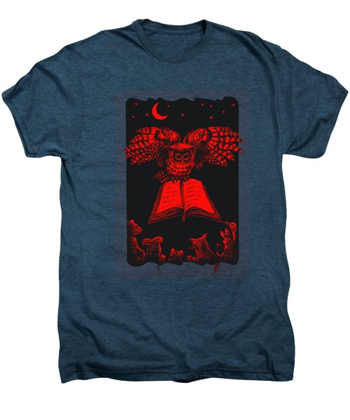 Owl And Friends Redblack Men's Premium T-Shirt
