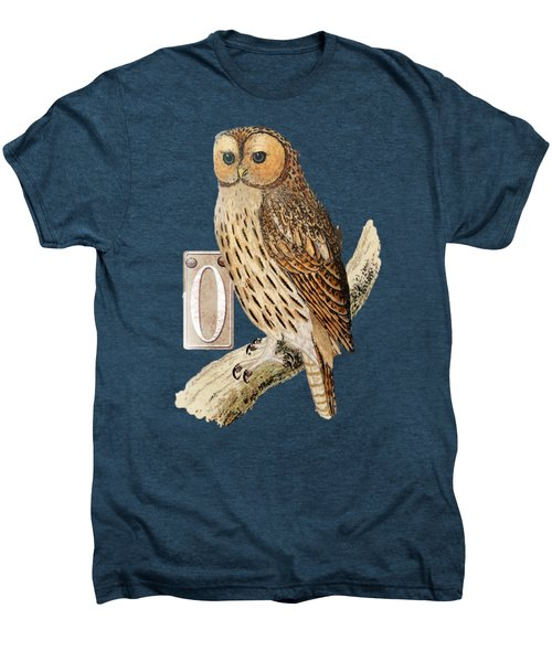 Owl T Shirt Design Men's Premium T-Shirt by Bellesouth Studio